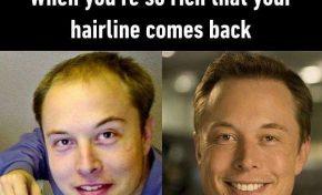 Ανακάλυψη όταν είσαι πλούσιος αποκτάς ξαφνικά μαλλιά.