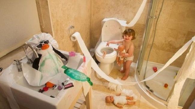 27 Φωτογραφίες παιδιά που έμειναν μόνα σπίτι